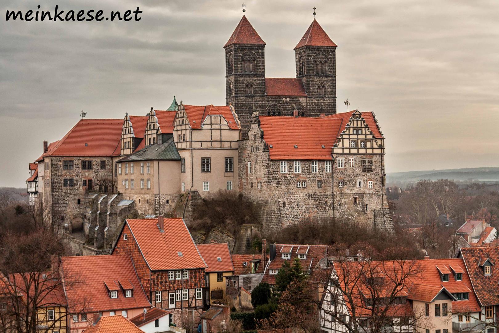 Das Quedlinburger Schloss vom Münzenberg aus.