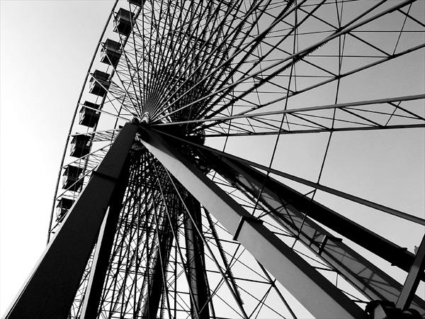 Das Riesenrad bei Tageslicht ...