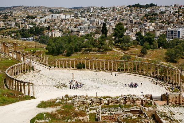 Das römische Forum im antiken Jerash