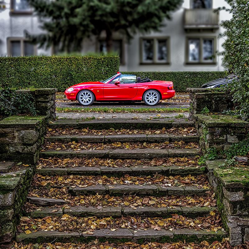 Das rote Cabrio