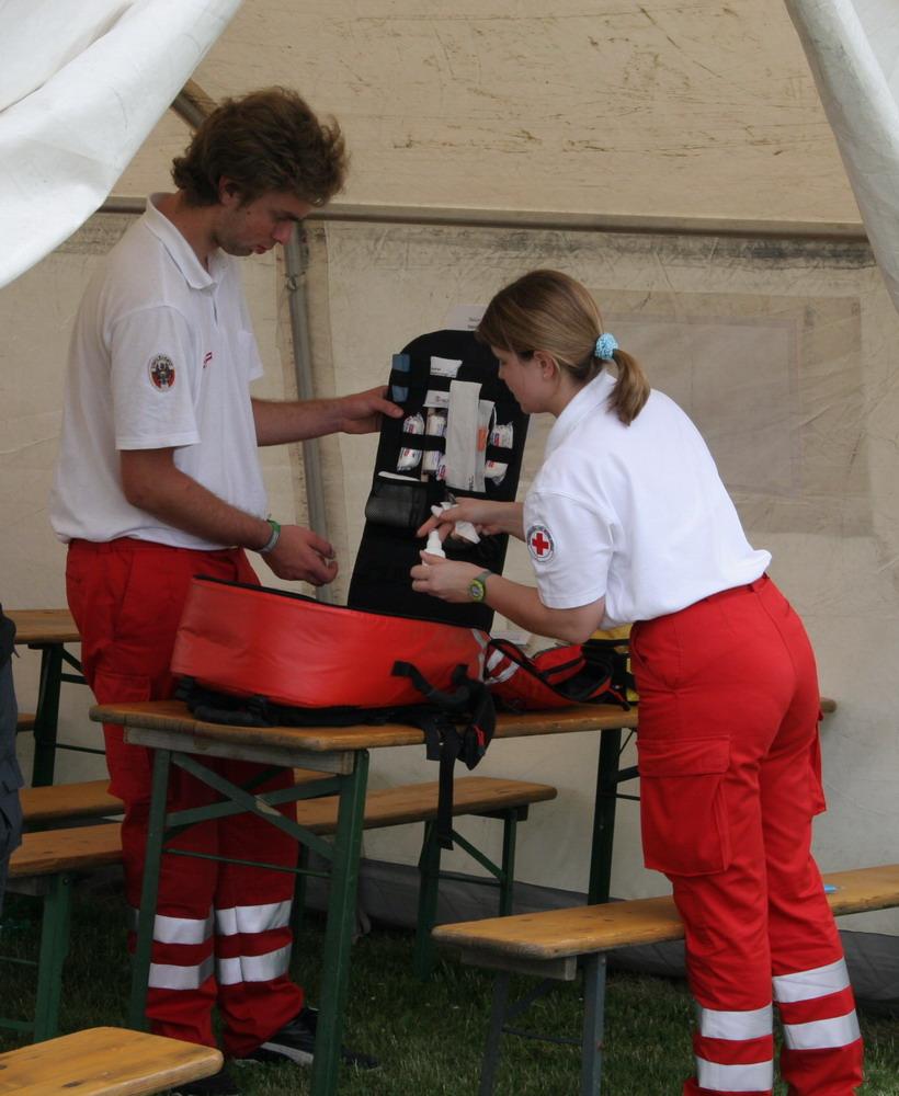 das Rote Kreuz bei der Arbeit
