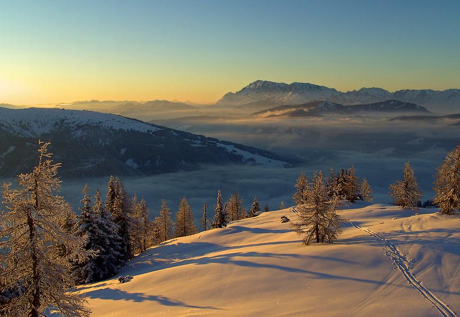 Das sanfte Licht in den Bergen