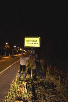 Das Schild danach
