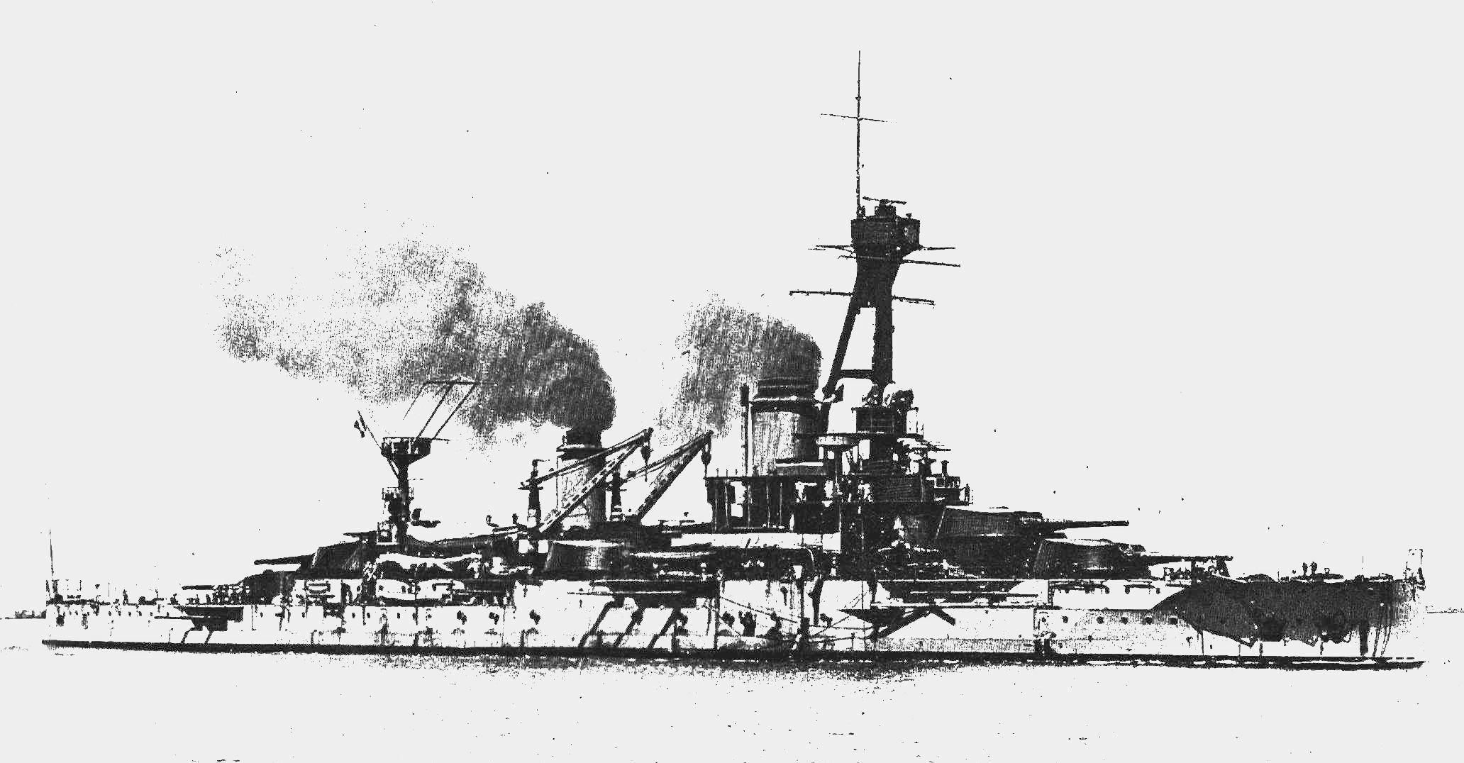 """Das Schlachtschiff """"Courbet"""""""