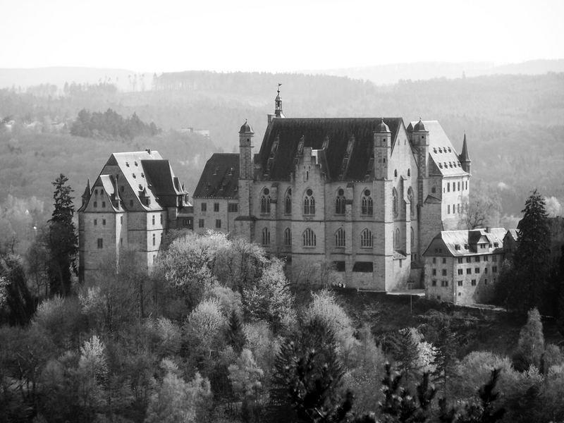 Das Schloss von hinten