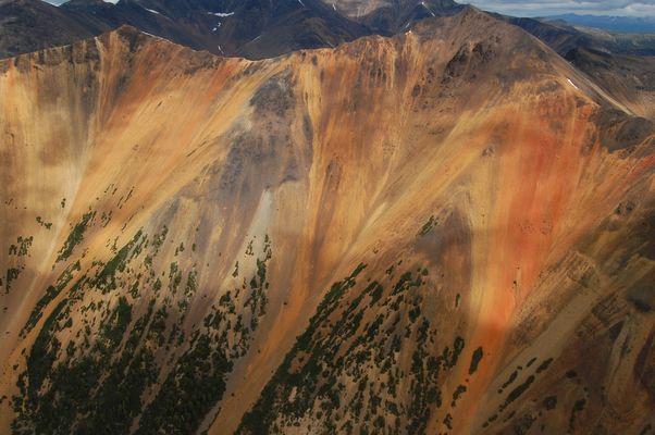Das sogenannte Regenbogengebirge