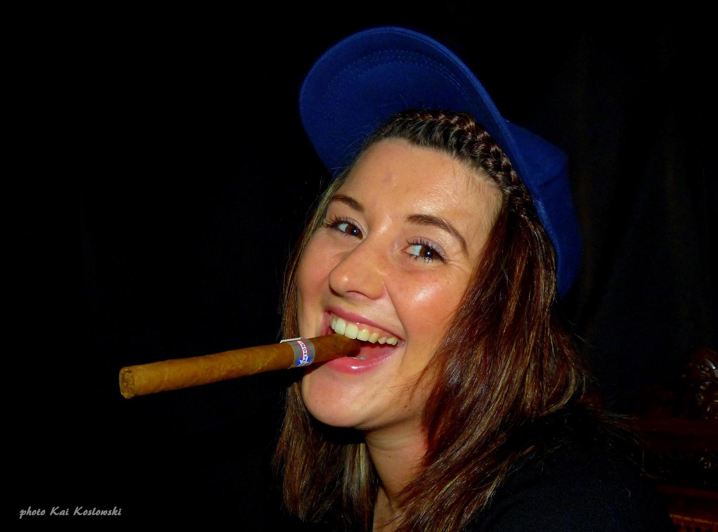 das Spiel mit der Zigarre