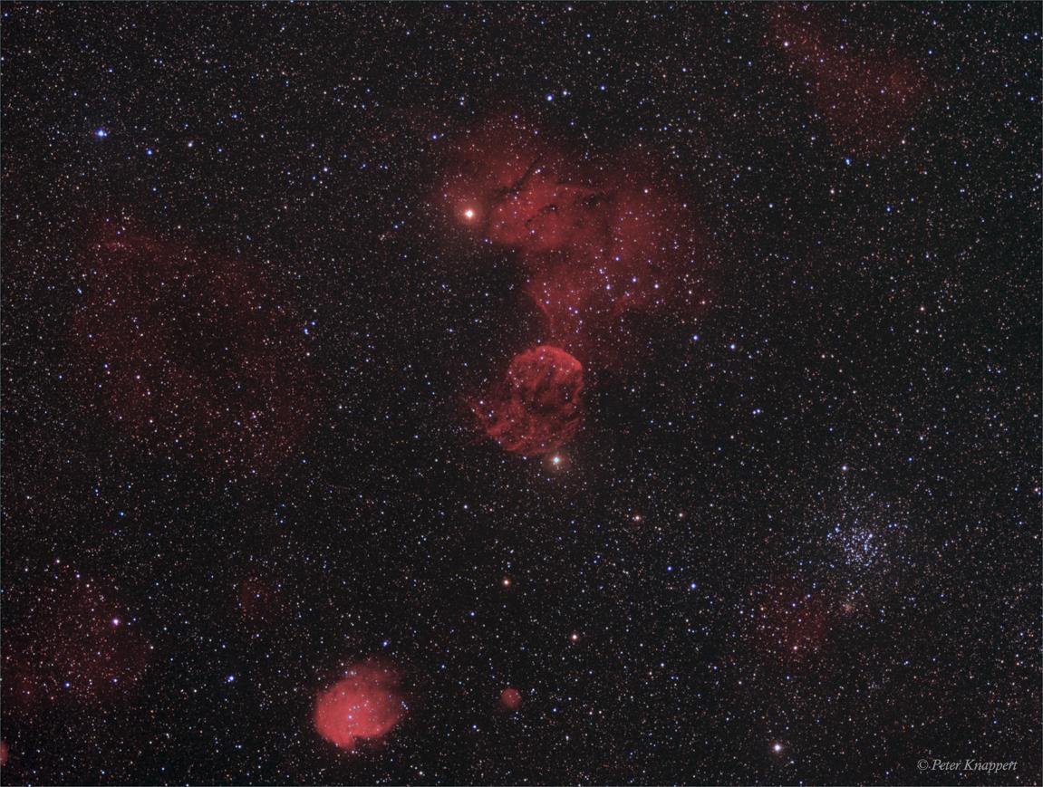 Das Sternbild Gemini in tiefem H-Alpha