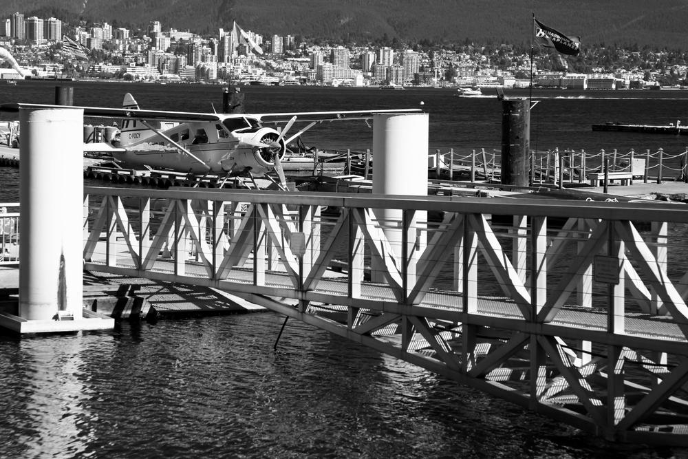Das Terminal der Wasser-Flugzeuge im Coal Harbour