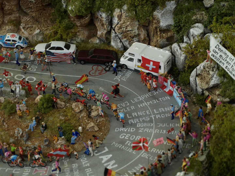 Das Teufelchen ist immer in Aktion bei der Tour de Franc