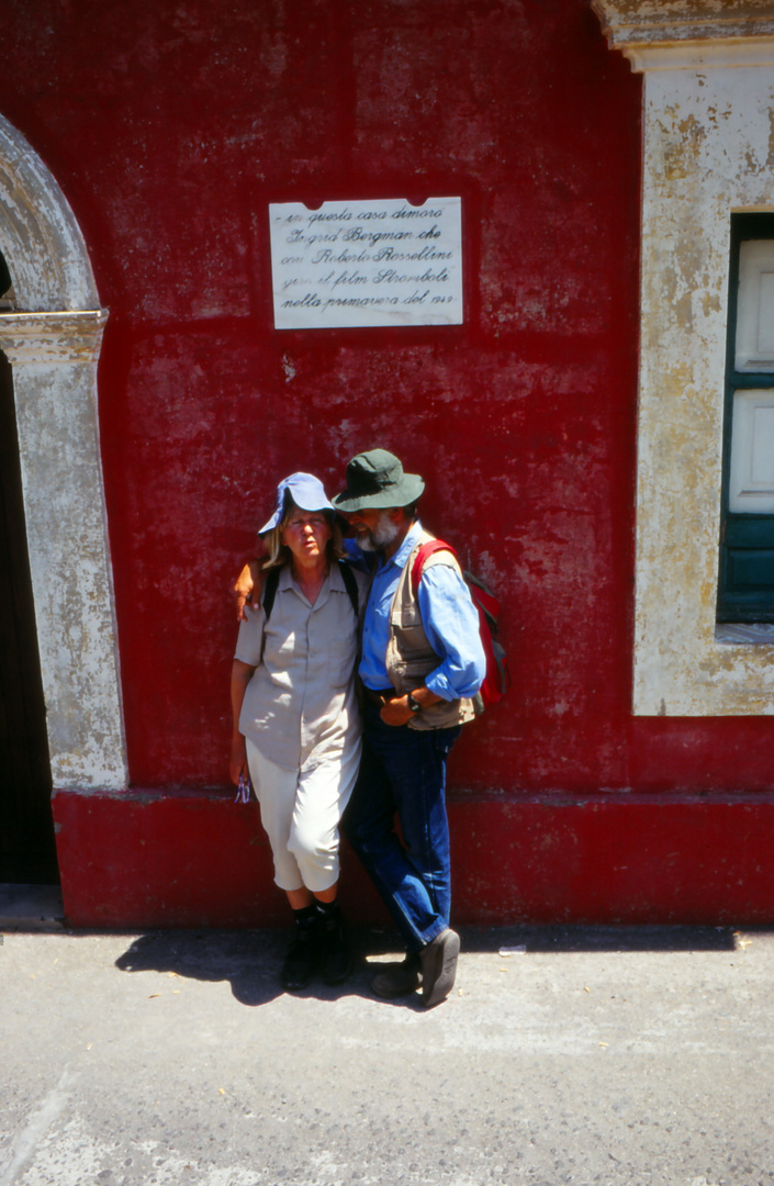 Das traute Paar auf Stromboli-Italien