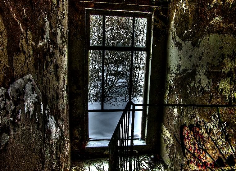 Das Treppenhaus des ehemaligen Erholungsheims- HDR