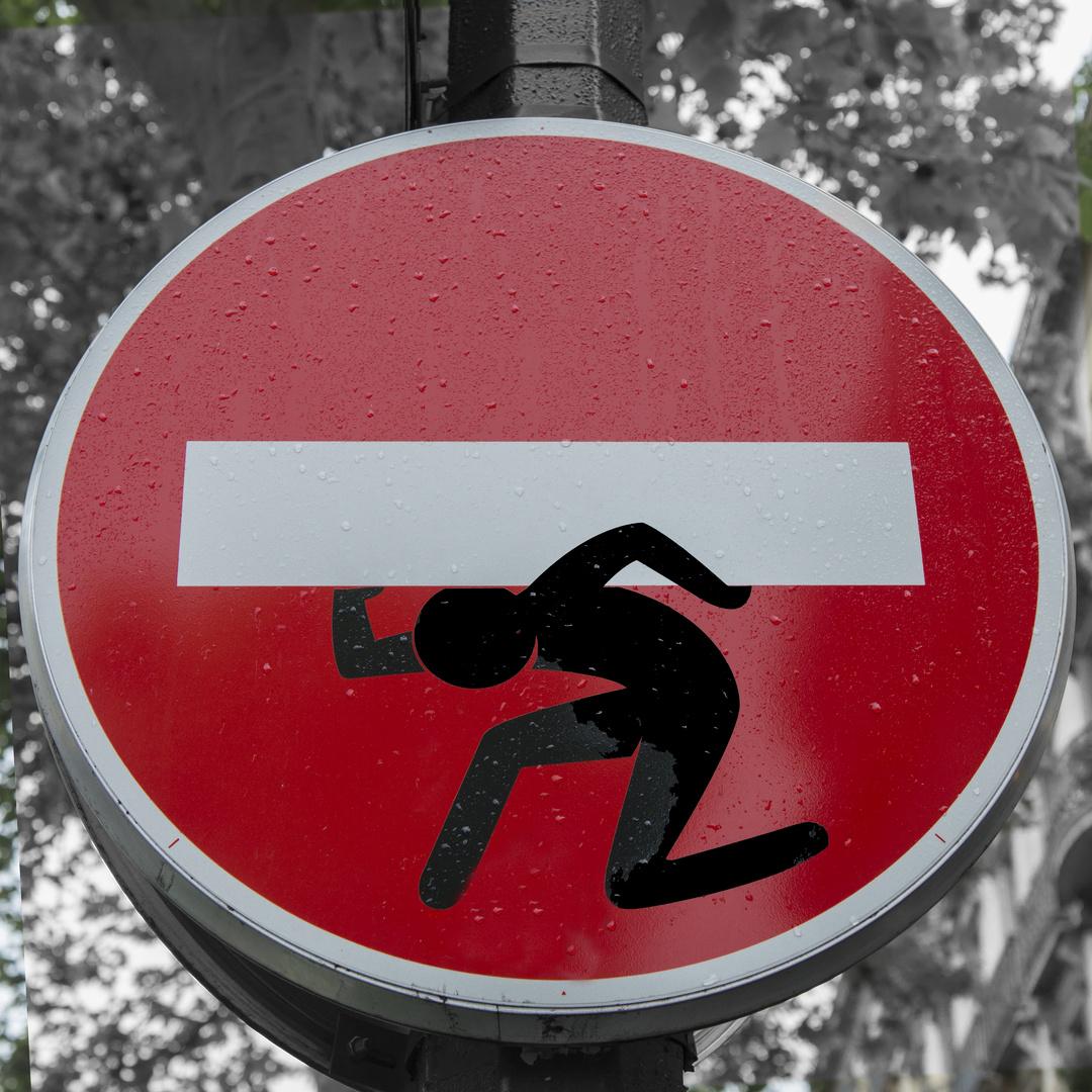 Das Verbot der Einfahrt ist schwer - Graffiti