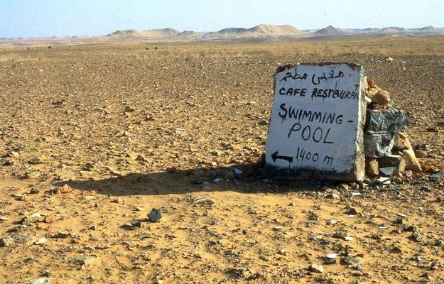 Das verrückteste Schild zwischen Ghardaia und El Golea