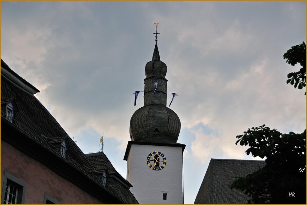 Das Wahrzeichen von Arnsberg, der Glockenturm