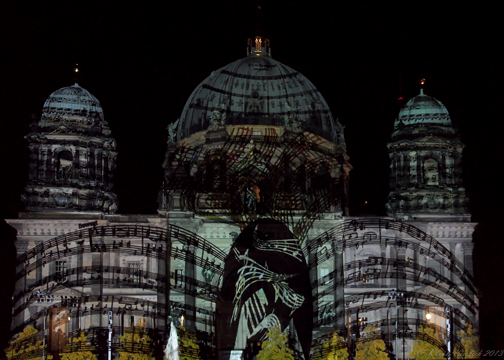 Das war das Festival of Lights ,hier der Berliner Dom