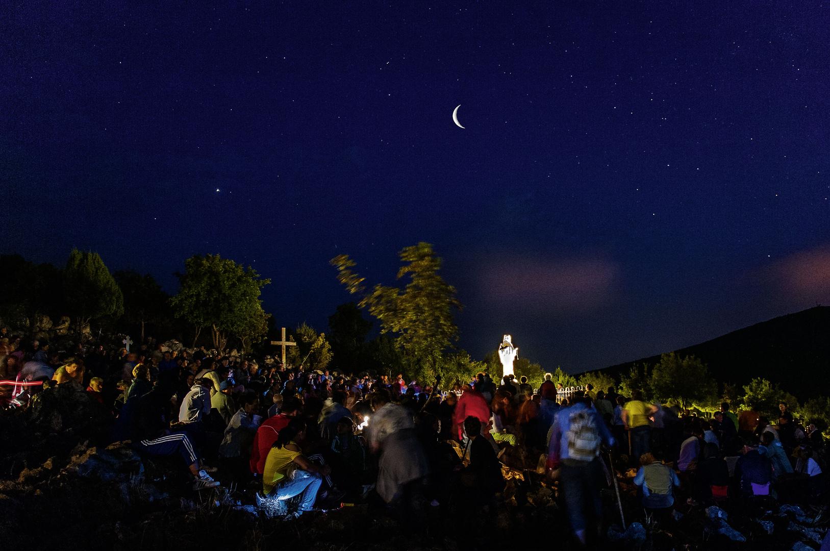 Das war toll - Rosenkranzgebet um Mitternacht in einer sternenklaren Nacht