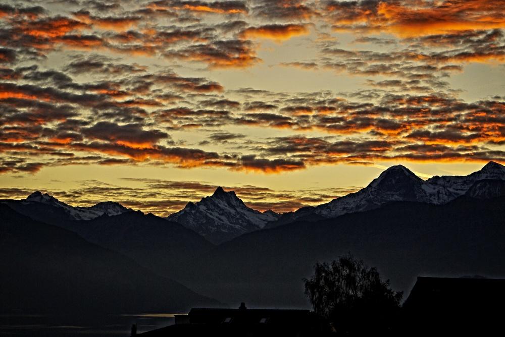 das war wieder ein spezieller Himmel beim Sonnenaufgang
