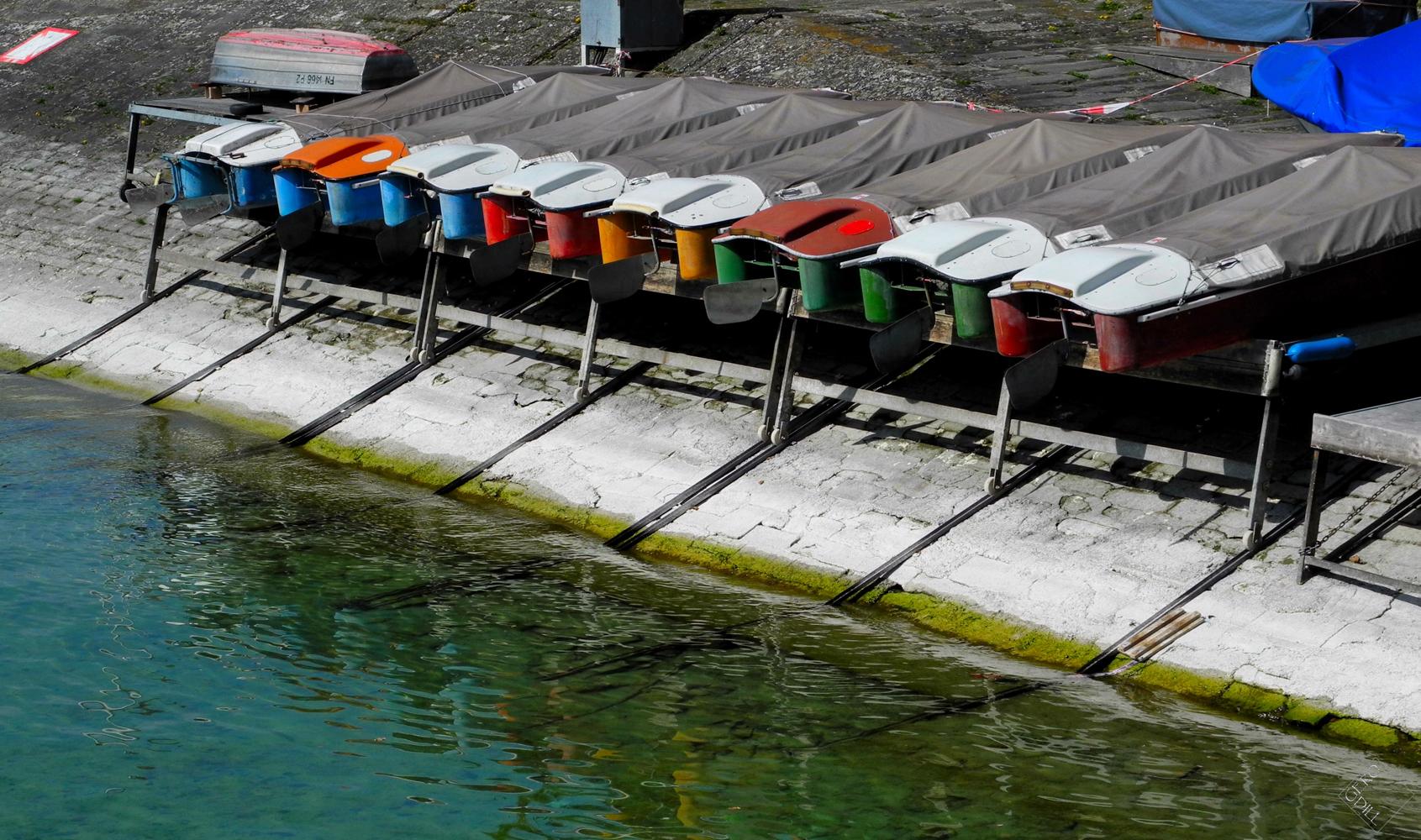 Das Warten der Tretboote