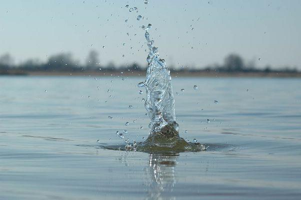 Das Wasser springt