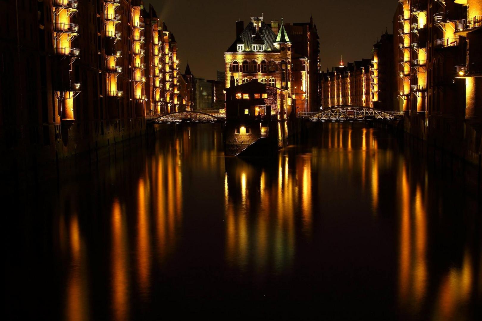 Das Wasserschloss in der Speicherstadt.
