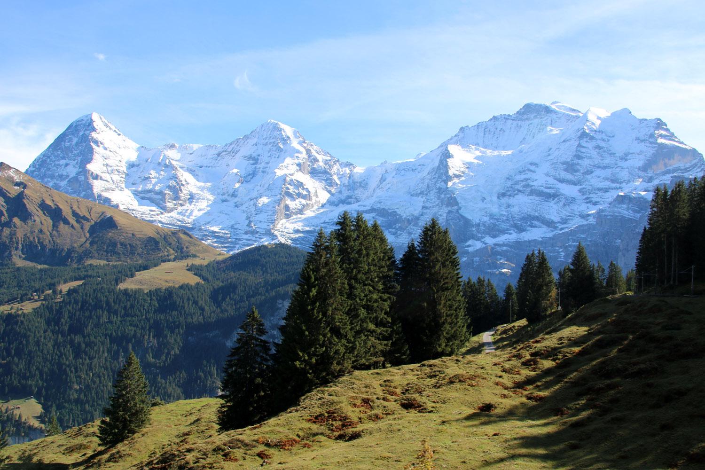 Das weltberühmte Dreigestirn der Berner Alpen