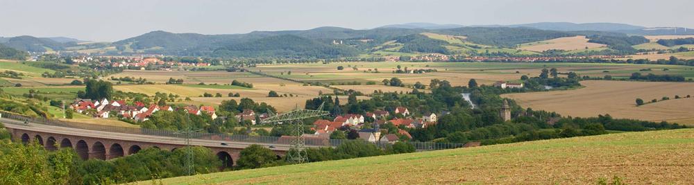 Das Werratal bei Herleshausen-Wommen