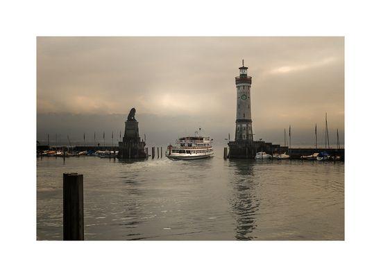 Das Wetter in Lindau : diesig