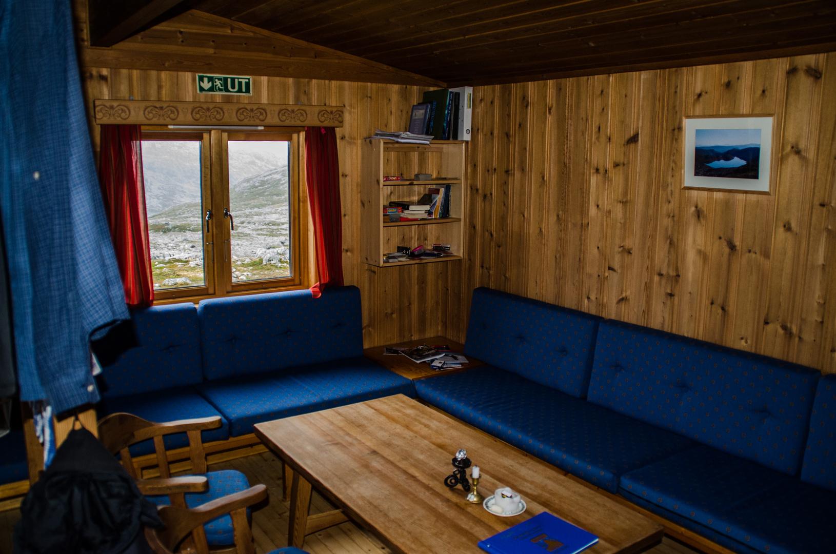 Das Wohnzimmer auf Ringvassbu