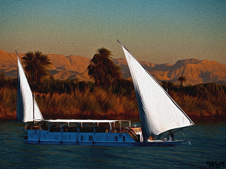 Dau auf dem Nil