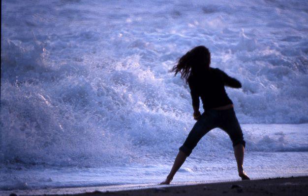 davanti al mare