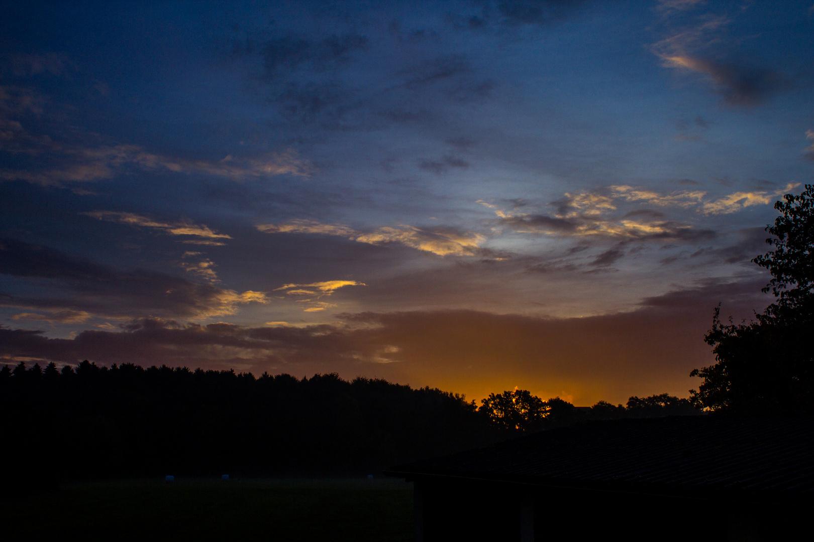 Daybreak in autumn