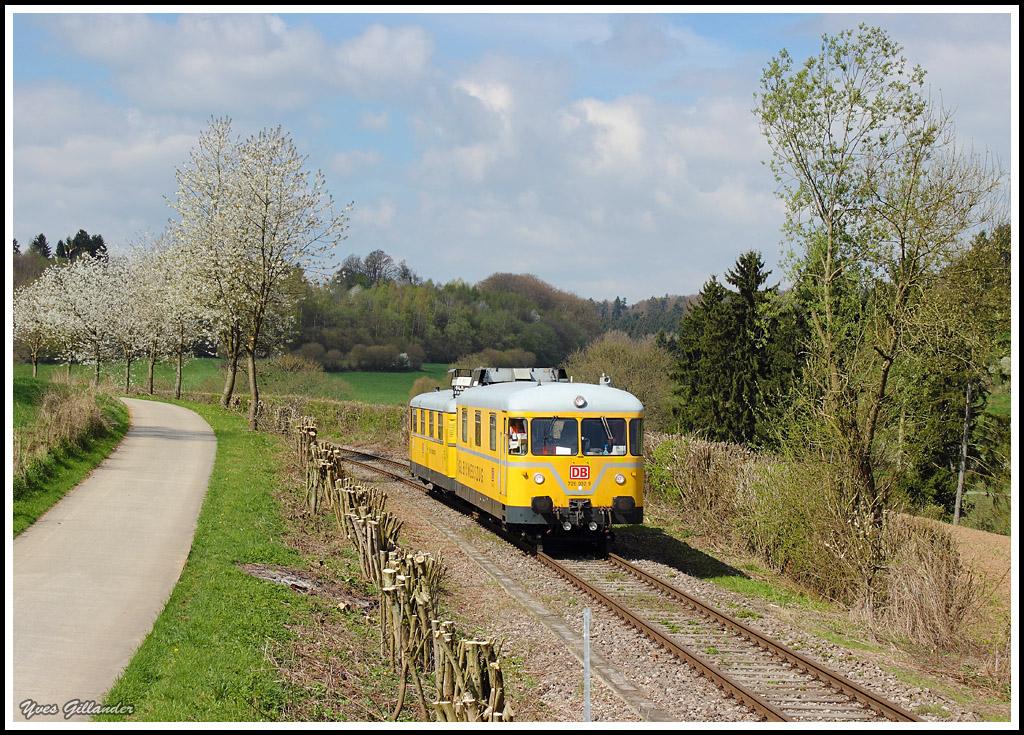 DB Gleismesszug fernab der Heimat