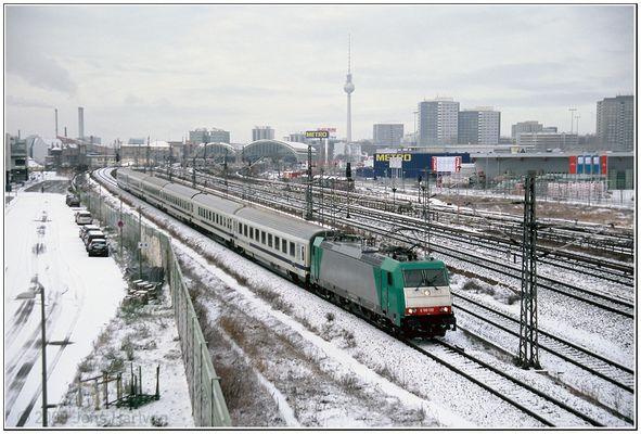 DB Mietlok und Schnee sind beides nicht oft in Berlin anzutreffen