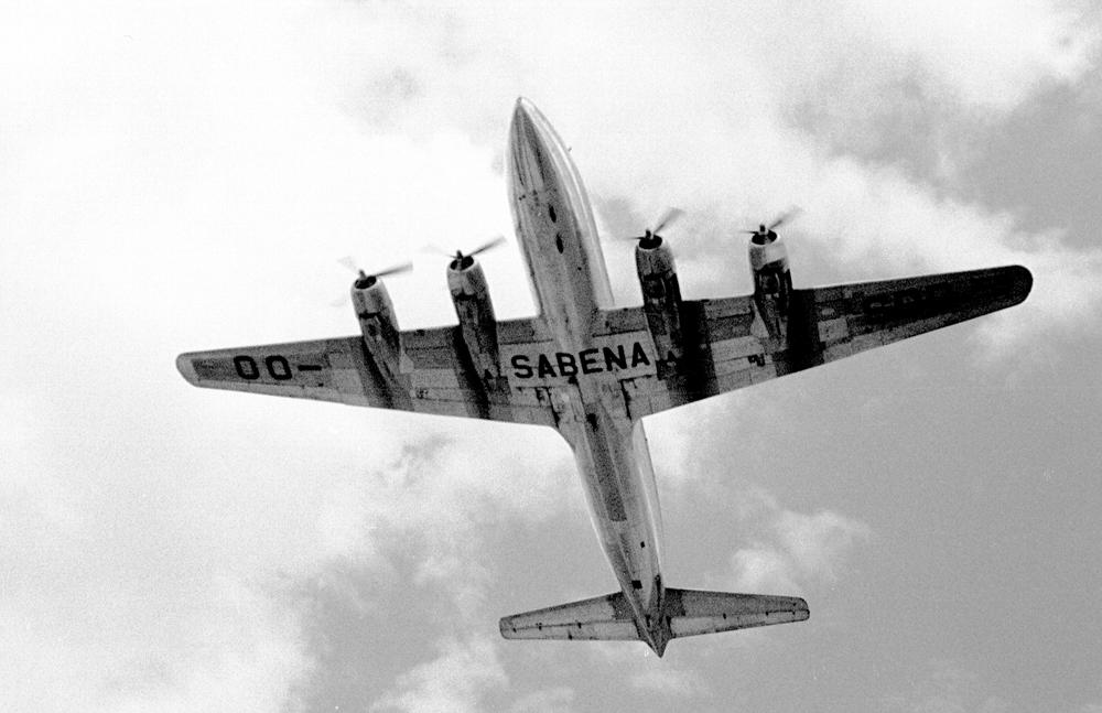DC-6 der Sabena in Kloten, 1960