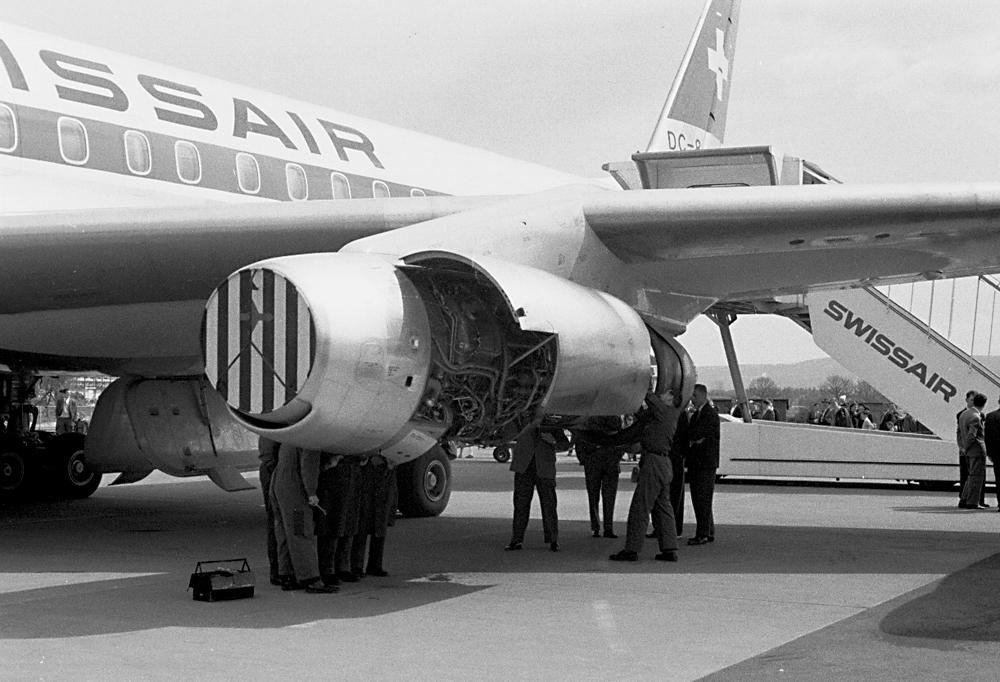 DC-8-32, HB-IDA: das grosse Staunen