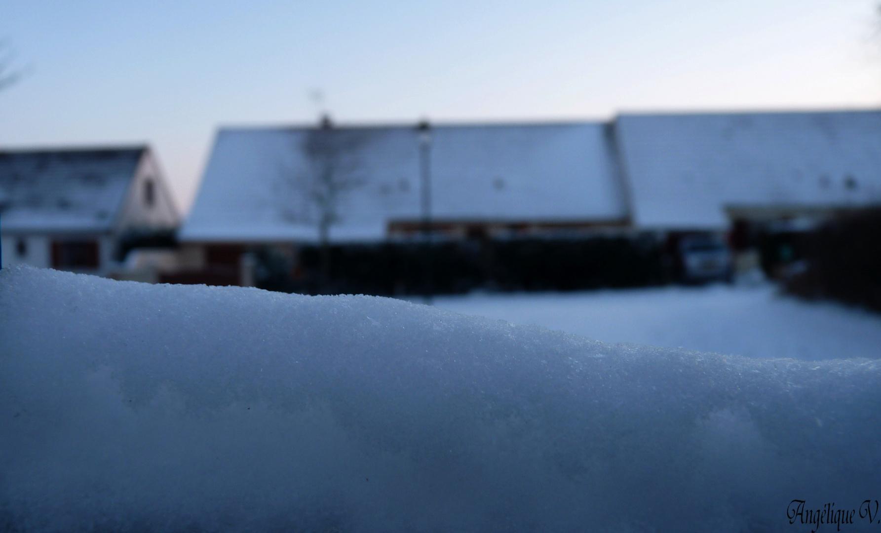 De la neige...