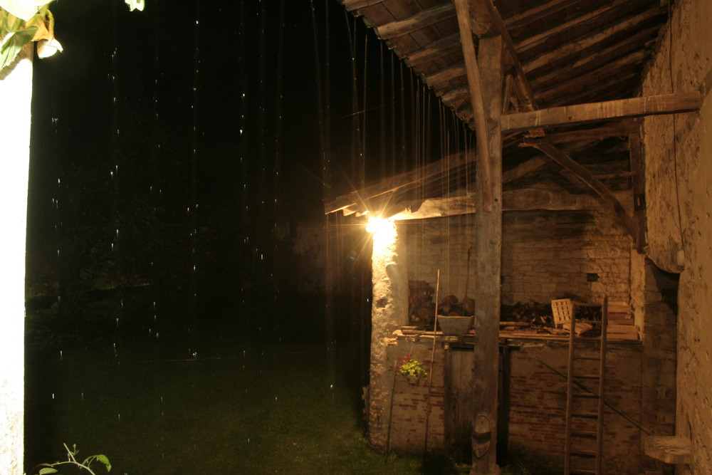 de la pluie sur