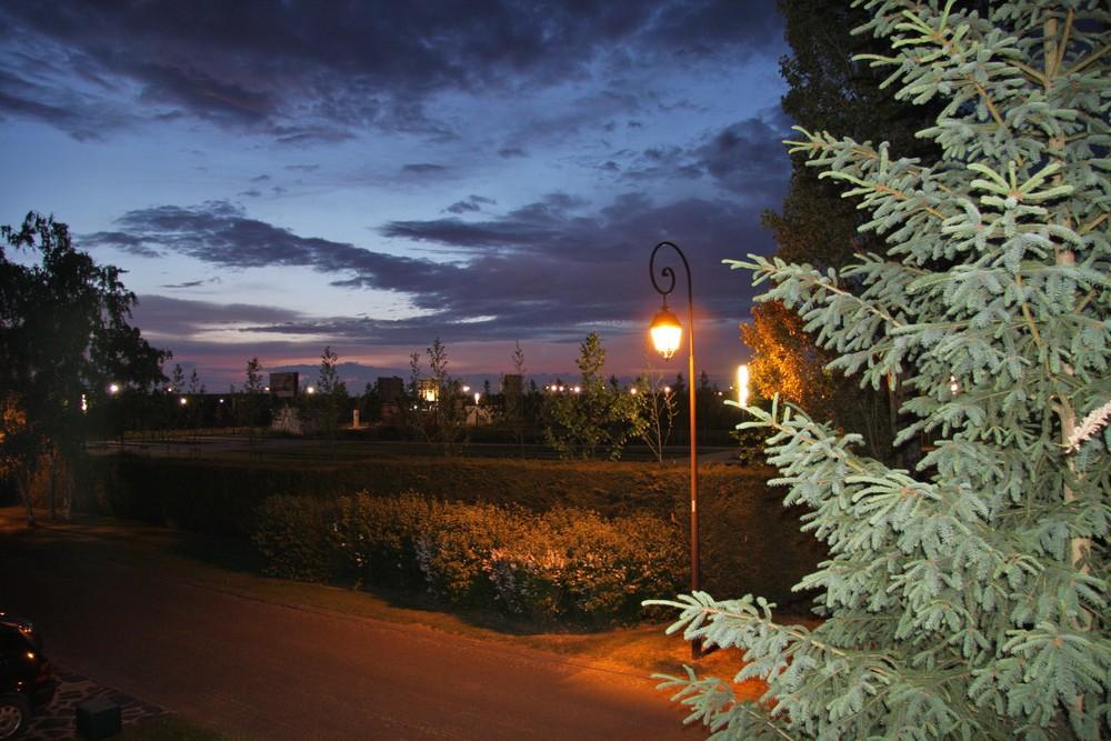 De ma fenêtre, le soir