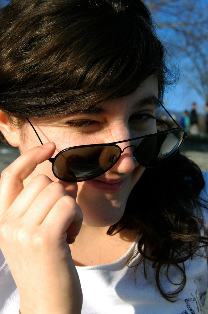 Deborah aime le soleil!!