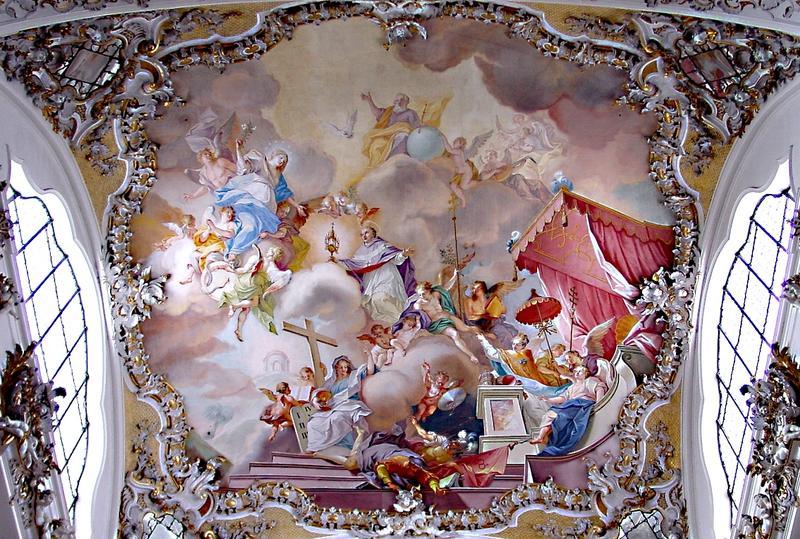 Deckengemälde der KlosterkircheSteingaden
