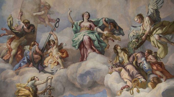 Deckengemälde in der Karlskirche Wien