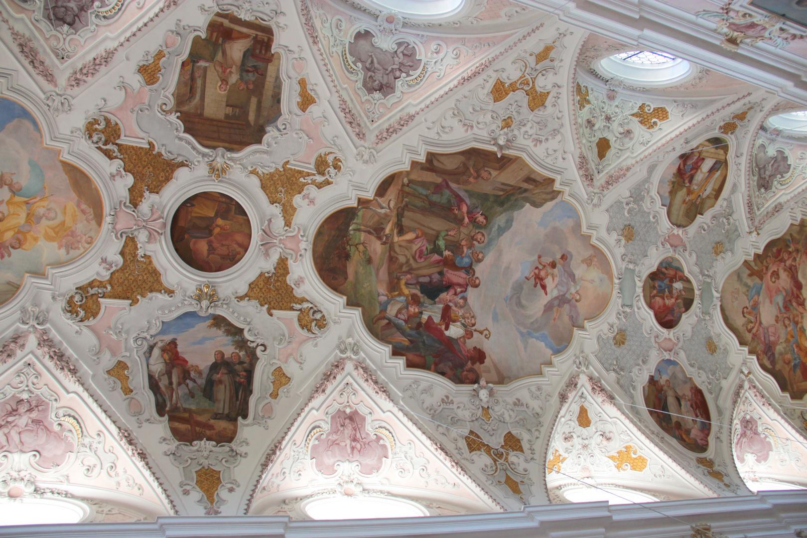 Deckengemälde in der Klosterkirche Fischbachau