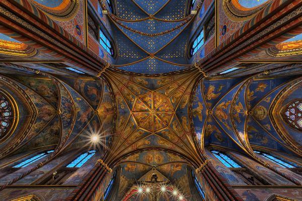 Deckengewölbe der Basillika in Kevelaer