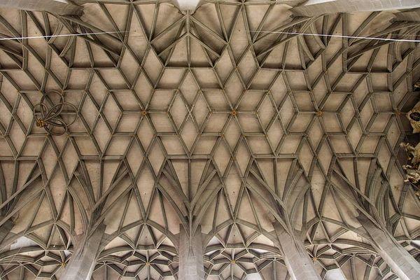 Deckenkonstruktion in einer der bedeutendsten Bauten der Spätgotik in Mitteldeutschland