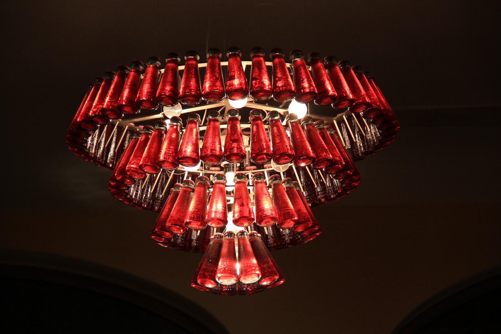 Deckenlampe in einer Münchener Gaststätte