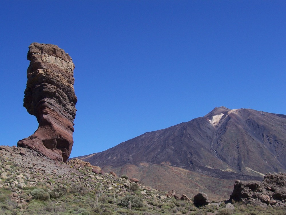 dedo de dios (Finger Gottes) und Teide (Vulkan)