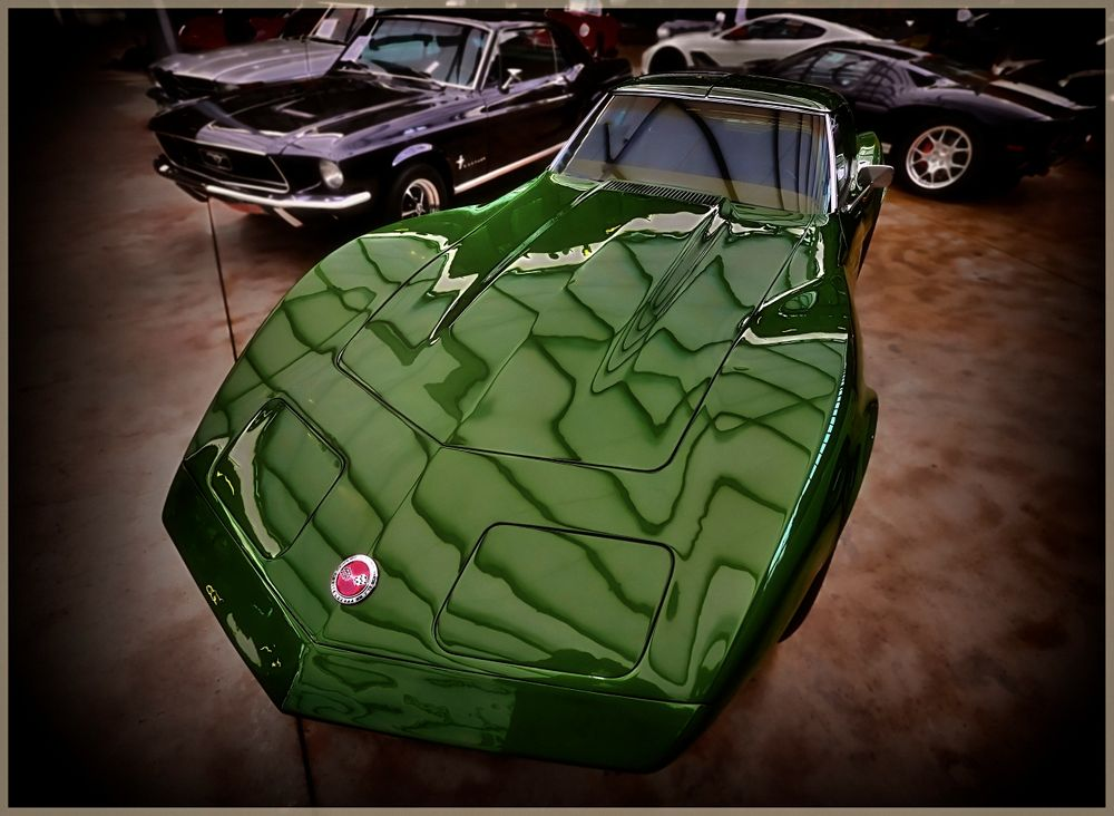 deep green car