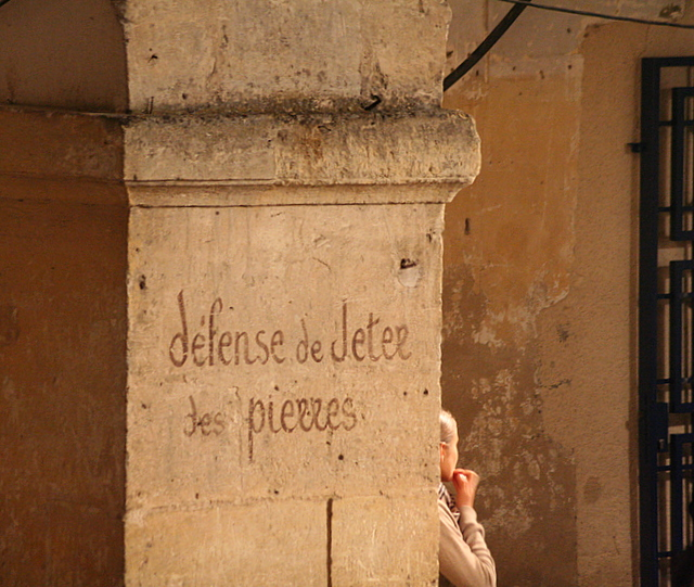 Défense de jeter....
