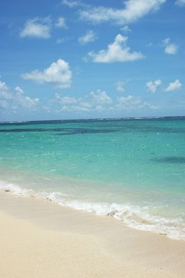 dégradé de couleur aux Caraïbes